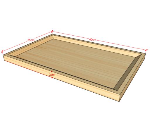 Wooden Tray S Warna