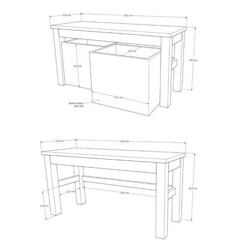 Bench 2 Drawer
