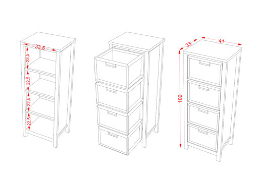Chest 4 Drawer scaled