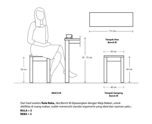 Furniture - Bench - Bench M Natural