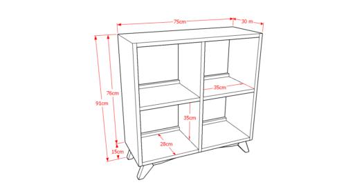 Drawer Solid 2x2 Sketsa
