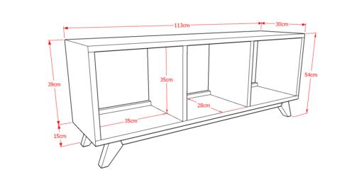 Drawer Solid 3x1 Sketsa