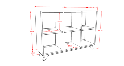 Drawer Solid 3x2 Sketsa