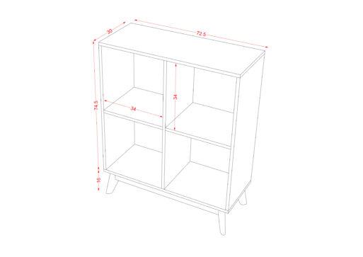 Book Case 2x2 1 scaled