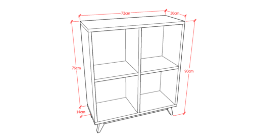 Book Case 2x2 Sketch
