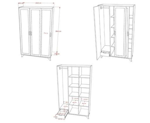 Furniture - Lemari - Alana Wardrobe 3 Pintu