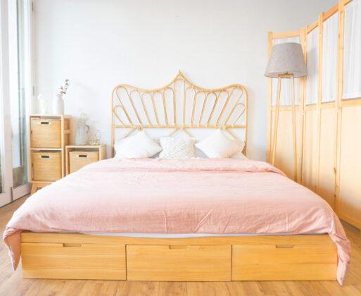 1 Furniture Dipan Alana Bed 3 Drawer 160