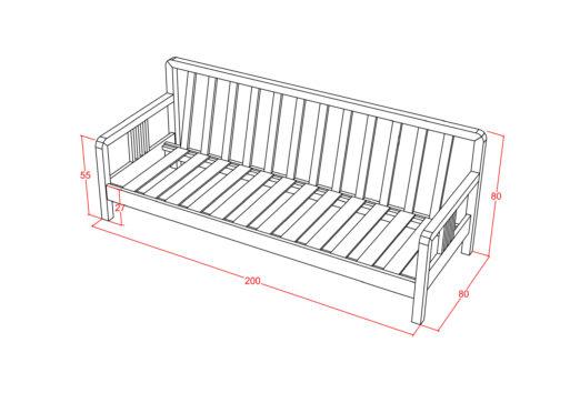 Furniture - Kursi - Alana Sofa 3 Seater