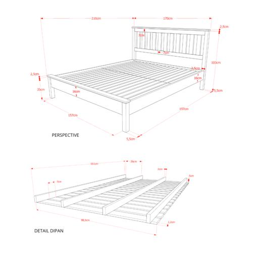 Classic Bed Perspektif