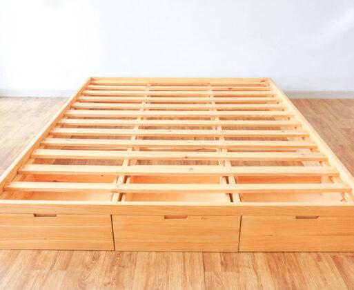 Detail 1 Furniture Dipan Alana Bed 3 Drawer 160