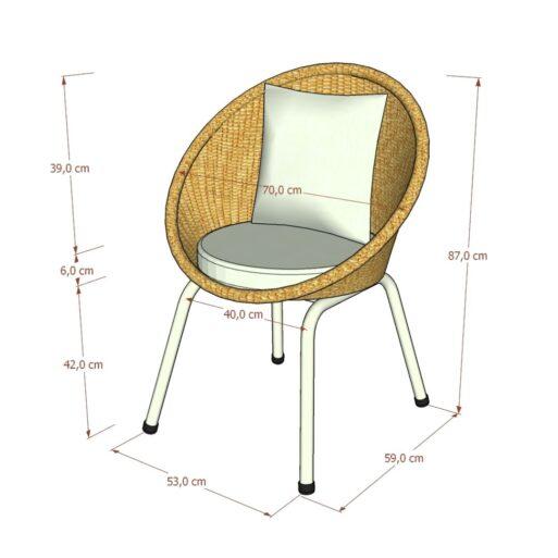 Kagumi Chair White