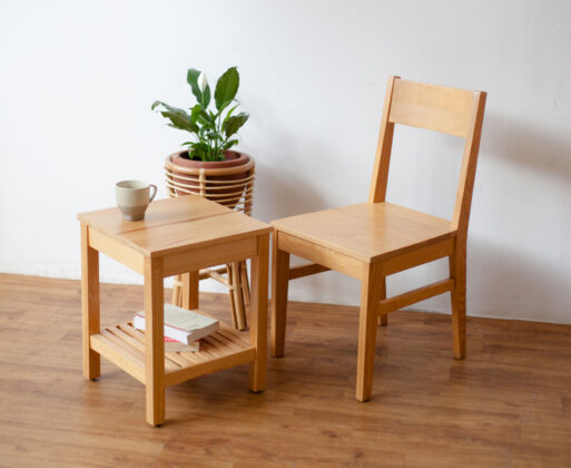 Furniture - Meja - Classic Side Table Natural