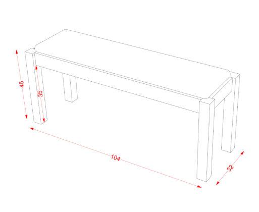Furniture - Bench - Bench Sponge M Cream