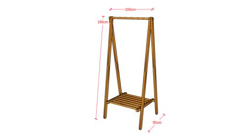 Simple Hanger Besar Natural Warna