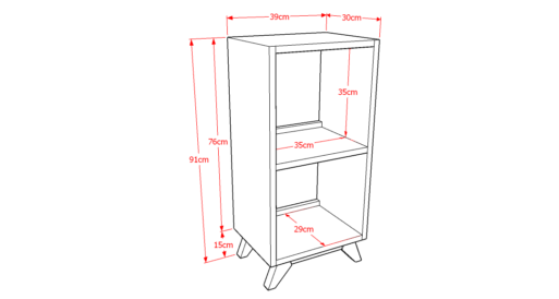 Drawer Solid 1x2 Sketsa