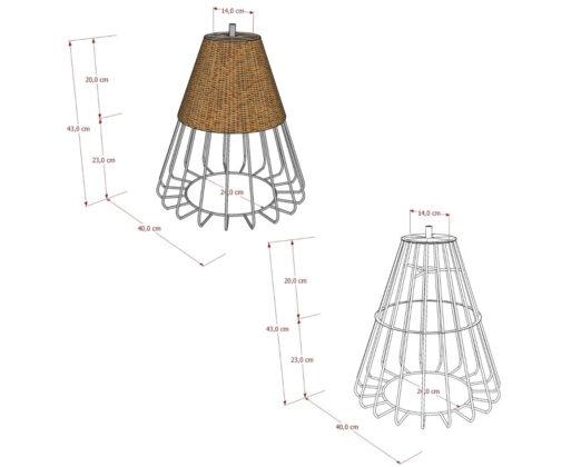 Furniture - Lampu - Cakra Pendant Lamp