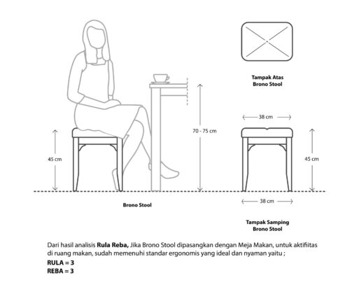 Furniture - Kursi - Brono Stool