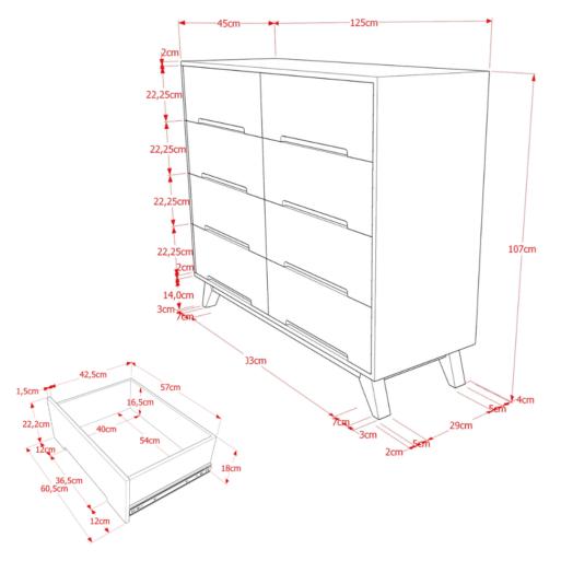 Alana 2×4 Cabinet Uwitan