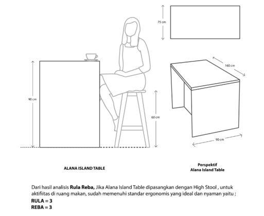 Furniture - Meja - Alana Island Table