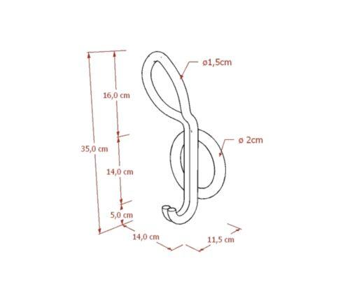 Furniture - Hanger - Cakra Single Hook
