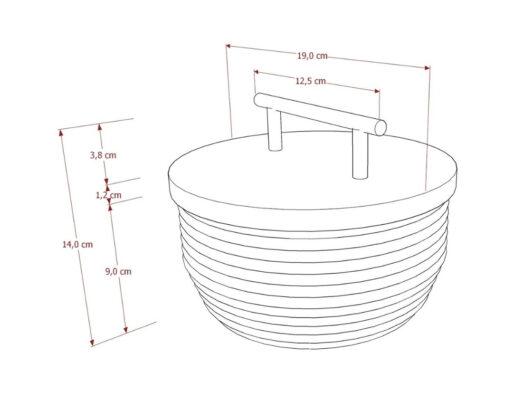 Furniture - Basket - Bidara Round Basket