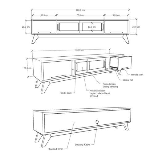 Harumi TV Table