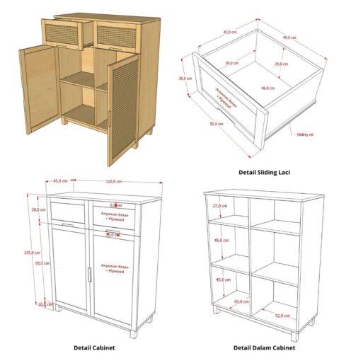 Veromi Kitchen Cabinet